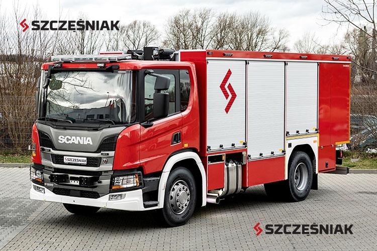 Średni samochód ratownictwa chemicznego Scania P500 4x2