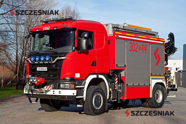 Ciężki samochód ratownictwa technicznego Scania G450 4x4