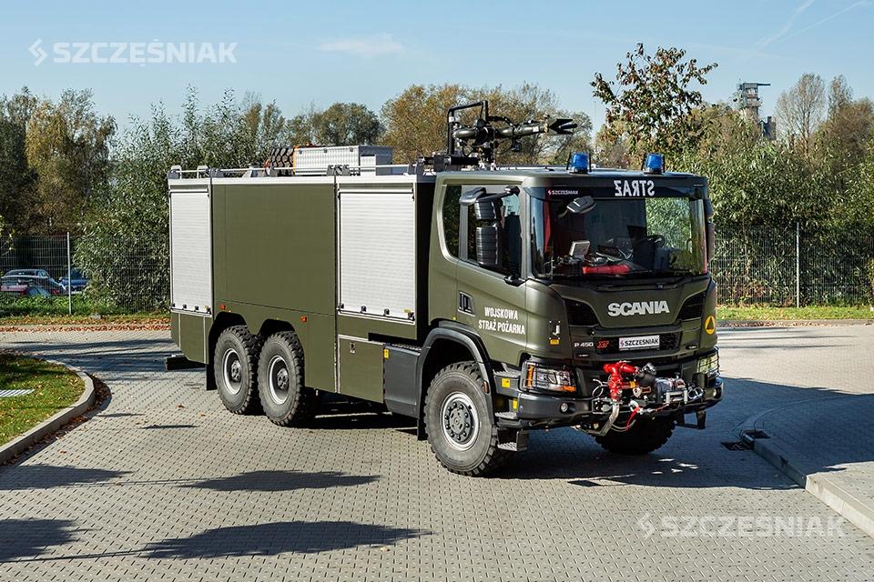 Ciężki lotniskowy Samochód Ratowniczo Gaśniczy Scania P 6×6