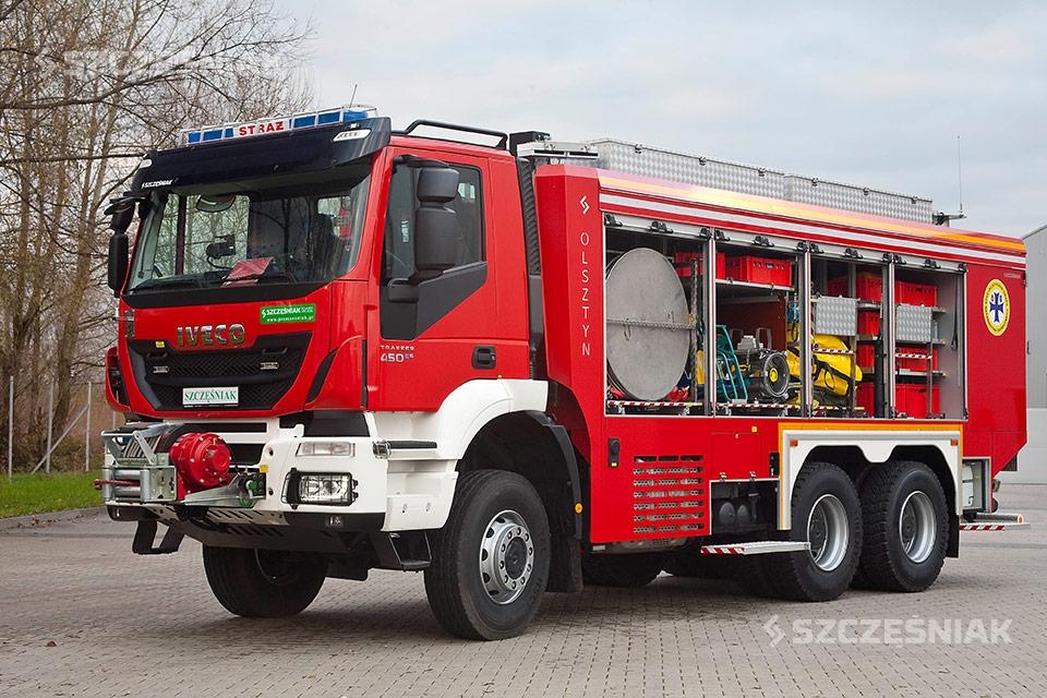 Ciężki Samochód Ratownictwa Chemicznego Iveco TRAKKER