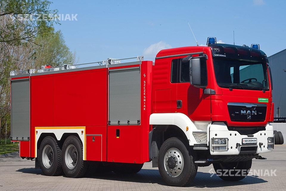 Ciężki Samochód Ratowniczo Gaśniczy MAN TGS