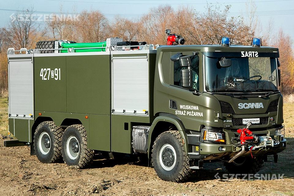 Ciężki Samochód Ratowniczo Gaśniczy SCANIA