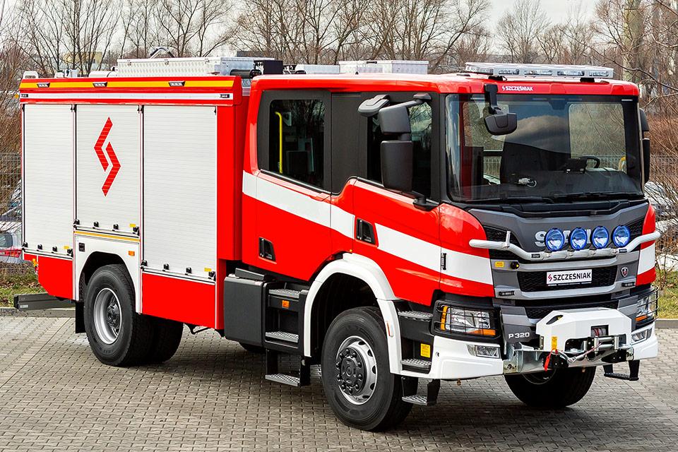 Średni Samochód Ratowniczo Gaśniczy Scania P320 4x4