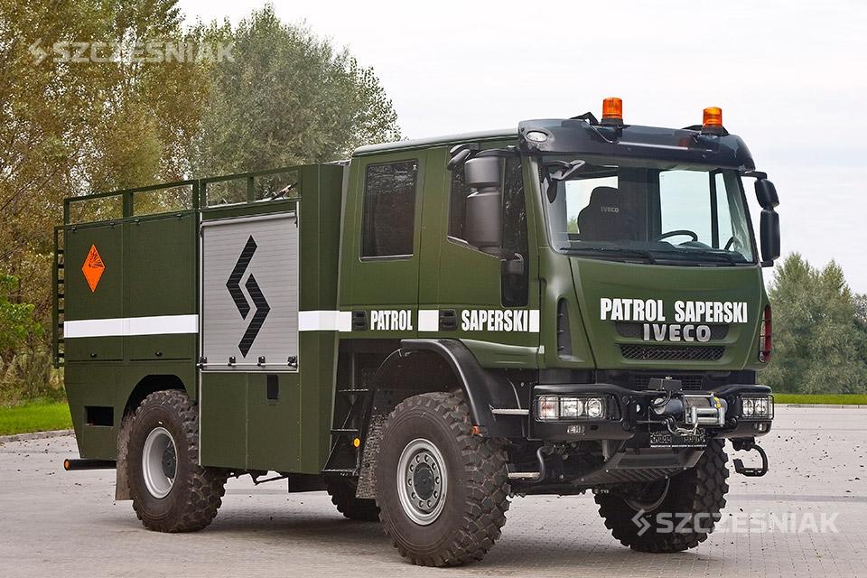 Pojazd saperski do transportu niewybuchów Iveco EUROCARGO 4x4
