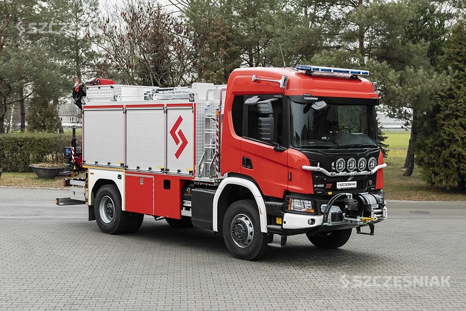 Średni samochód ratownictwa technicznego Scania P 4×4
